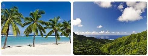 Tourist in Cook Islands