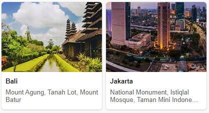 Tourist in Indonesia