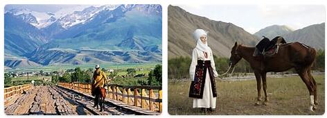 Tourist in Kyrgyzstan