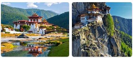 Major Landmarks in Bhutan