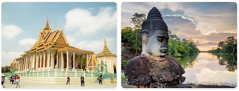 Major Landmarks in Cambodia