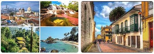 Major Landmarks in Colombia