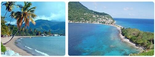 Major Landmarks in Dominica