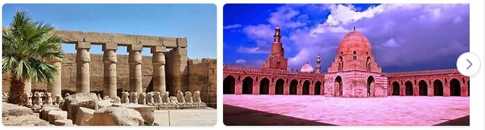 Major Landmarks in Egypt