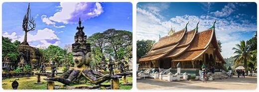 Major Landmarks in Laos