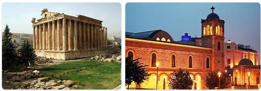 Major Landmarks in Lebanon