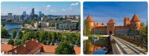 Major Landmarks in Lithuania