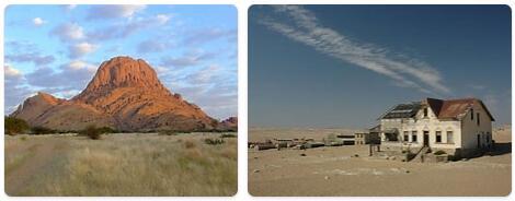 Major Landmarks in Namibia