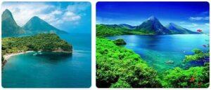 Major Landmarks in Saint Lucia