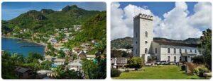 Major Landmarks in Saint Vincent and The Grenadines