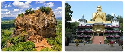Major Landmarks in Sri Lanka